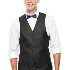 IZOD® Gray Sharkskin Suit Vest - Classic Fit