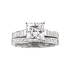 diamonart cubic zirconia 3 34 ct tw bridal ring set - Jcpenney Wedding Ring Sets