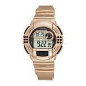 Armitron® Pro-Sport Womens Rose-Tone Resin Strap Chronograph Sport Watch 45/7044RSG