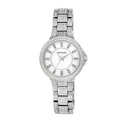 Armitron® Now® Womens Silver-Tone Crystal Accent Watch 75/5317MPSV