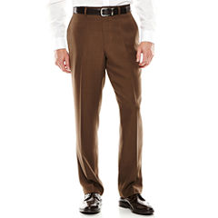 Louis Raphael® Flat-Front Mini-Herringbone Dress Pants - Classic Fit