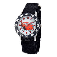 Disney Cars Time Teacher Kids Black Strap Watch