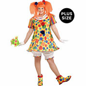 Giggles The Clown 4-pc. Dress Up Costume