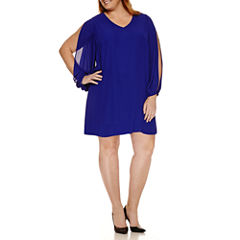 Worthington® Split Sleeve Shift Dress  -Plus