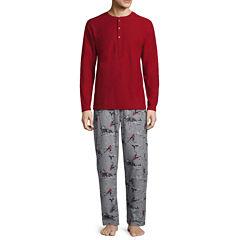 Stafford® 2-pc. Microfleece Pants and Long-Sleeve Henley T-Shirt Gift Set
