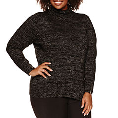 Alyx Long Sleeve Cowl Neck Sweater-Plus