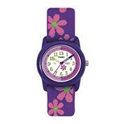 Timex® Easy Reader Kids Purple Fabric Strap Watch T890229J