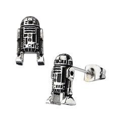 Star Wars® Stainless Steel R2-D2 Stud Earrings