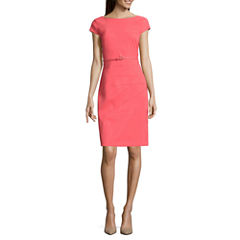 Alyx Short Sleeve Splicesheath Dress