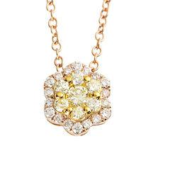 1/2 CT. T.W. Yellow Diamond Multi-Shape 18K Pendant