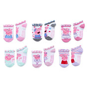 6-pc. Peppa Pig No Show Socks-Toddler