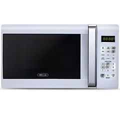 Bella 700-Watt Compact White Chrome Microwave Oven, 0.7 Cubic Feet