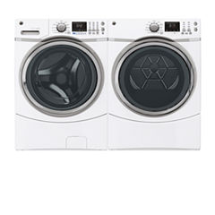 GE® Front Load 2-pc. Gas Washer & Dryer Set- White