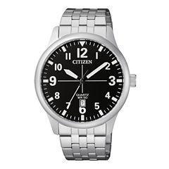Citizen Quartz Mens Silver Tone Bracelet Watch-Bi1050-81f