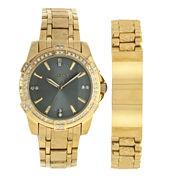 Elgin Mens Two Tone Bracelet Watch-Fg10009gnst