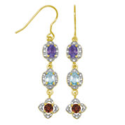 Sparkle Allure Multi Color Abalone Drop Earrings