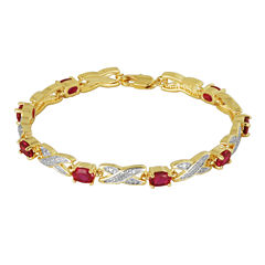 Sparkle Allure Lab Created Ruby Tennis Bracelet