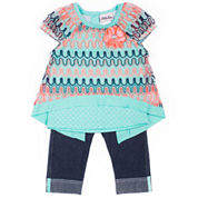 Little Lass Girls 2-pc. Legging Set-Preschool