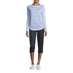 Made for Life™ Long Sleeve Stripe Tee or Woven Slant Pocket Pants