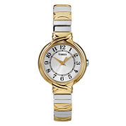 Timex® Womens Two-Tone Round Expansion Watch T2N979