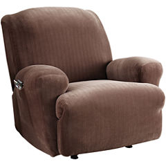 SURE FIT® Stretch Pinstripe 1-pc. Recliner Slipcover