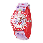 Red Balloon™ Girls Pink Heart Strap Watch