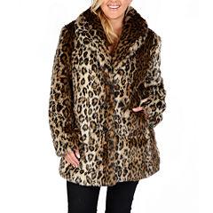 Excelled® Faux-Fur Short Jacket - Plus