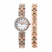 Elgin Womens Rose Goldtone Bracelet Watch-Eg10003st