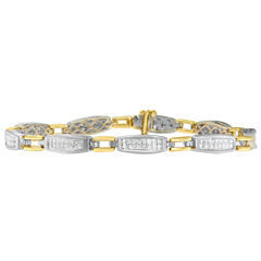 Womens 2 CT. T.W. White Diamond 14K Gold Tennis Bracelet