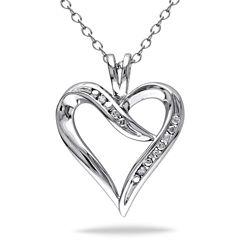 Womens Diamond Accent White Diamond Accent Pendant Necklace Set