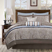 Madison Park Whitman 8-pc. Comforter Set + BONUS Coverlet