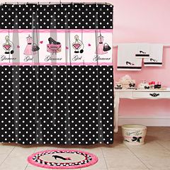 Glamour Girl Polka Dot Shower Curtain