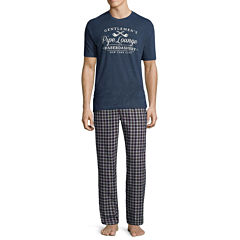 Stafford® 2-pc. Flannel Pants and Short-Sleeve Graphic Tee Set