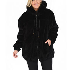Excelled® Reversible Faux-Leather/Faux-Fur Jacket - Plus