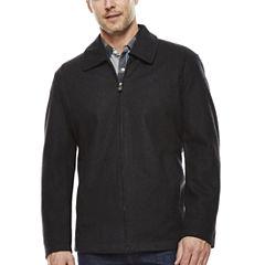 Straight-Bottom Wool-Blend Jacket