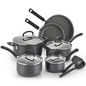 T-fal® Precision 12-pc. Hard-Anodized Ceramic Cookware Set