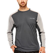 Free Country® Long-Sleeve Colorblock Crewneck Shirt