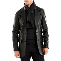 Excelled 2-Button Lambskin Blazer