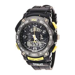 Everlast® Mens Black Silicone Strap Analog/Digital Sport Watch