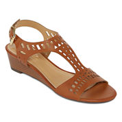 Diba® London Journey Laser-Cut Wedge Sandals