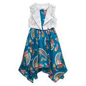 Young Land Girls Short Sleeve Jacket Dress