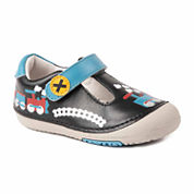 Boys T Strap Leather Shoes