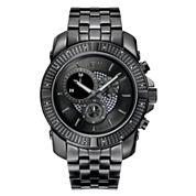 JBW Warren Mens Diamond-Accent Black-Ion Plated Stainless Steel Watch J6331C