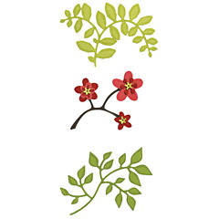 Sizzix® Die, 3-pc. Flowers Branches and Leaves Set