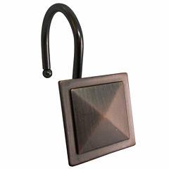 Elegant Square Diamond Shower Curtain Hooks