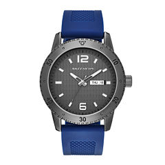 Skechers® Mens Blue Silicone Strap Watch