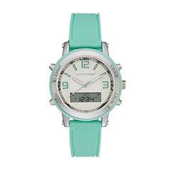 Skechers® Womens Green Silicone Strap Analog/Digital Chronograph Watch