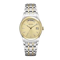 Bulova® Mens Two-Tone Bracelet Watch 98C60