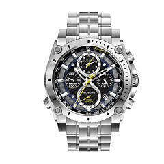 Bulova® Mens Precisionist Chronograph Silver-Tone Watch 96B175
