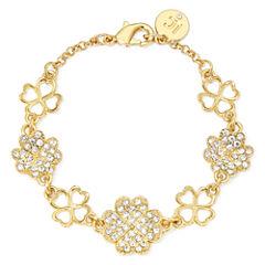 Liz Claiborne® Crystal Clover Bracelet